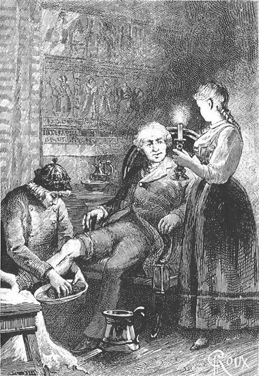 Sylvius Hog (i lenestolen.) Ill: Public Domain
