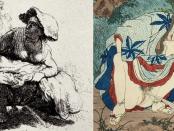 Rembrant van Rinj/Wikipedia Commons, japansk tresnitt fra 1800-tallet